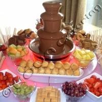 Шоколадов фонтан под наем от НОВА Кетъринг, подходящ за стилното Ви събитие! www.novva.bg