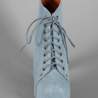 Дамски обувки Jeffrey Campbell Lita Fab Blue Denim ток платформа деним 39 41 токчета дънкови боти