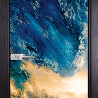 Стъклена интериорна врата Print G 13-19 с каса Венге